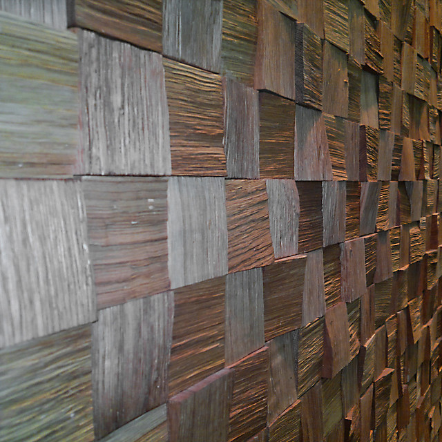Wandbekleding gekloofd eiken / Oak wall cladding  Flickr - Photo ...