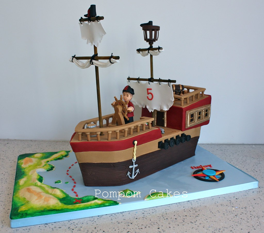 Pirate Ship A Rather Enormous Pirate Cake For A Little