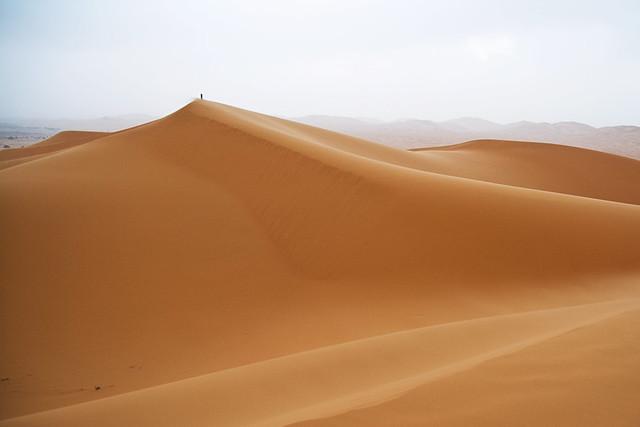 Walking on Erg Chebbi, Morocco