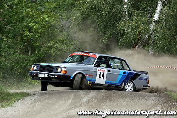 Volvo 240 Rallycar From A Small Local Swedish Rally