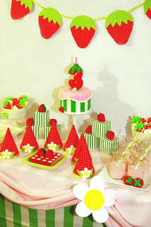 Strawberry Shortcake Birthday Dessert Table | by Sweet Fix