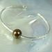 Fine silver bracelet with pearl  #5528