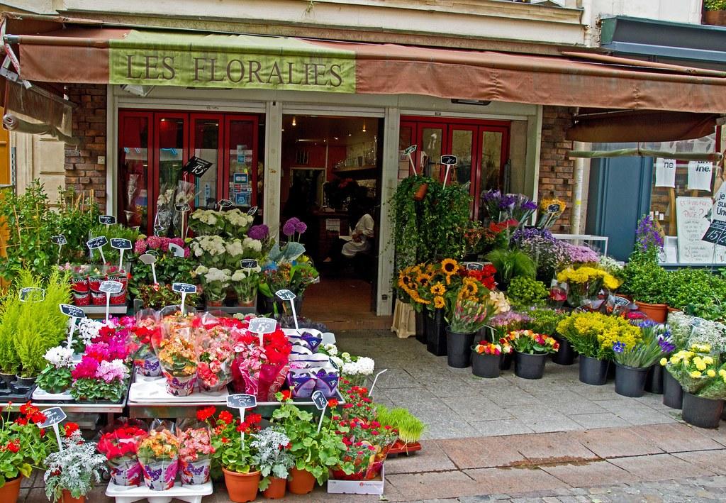 paris flower shop flower shop on rue cler paris france flickr. Black Bedroom Furniture Sets. Home Design Ideas