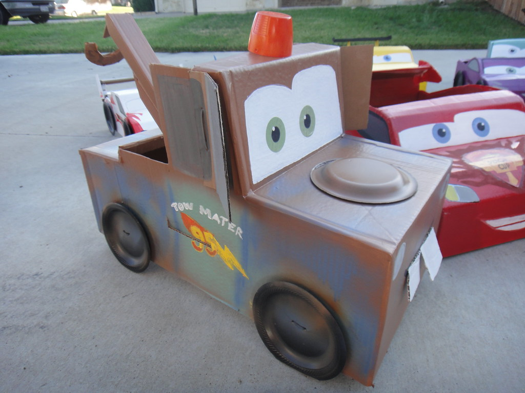 disney cars 2 cardboard mater car its4ge flickr. Black Bedroom Furniture Sets. Home Design Ideas