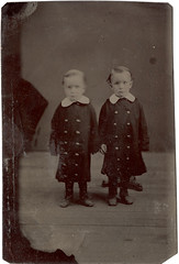 Tintype of Twins - Demonstrating Why a Head Brace is Important