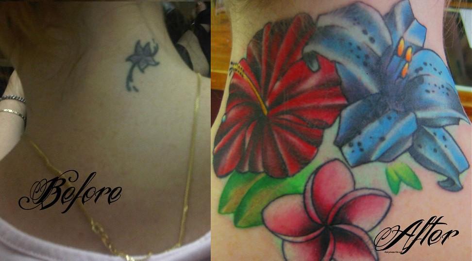 Tropical Flower Tattoos