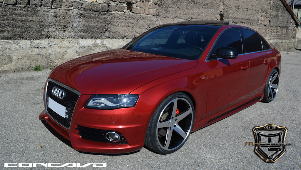 Audi A4 On Cw 5 Matte Black Machined Face Www