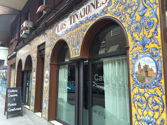 Ejemplo de azulejos en Talavera de la Reina
