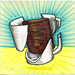 I drew you a surrealistic broken mug of coffee