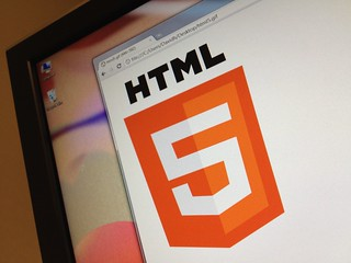 HTML5 Logo on Screen | by DavidMartynHunt