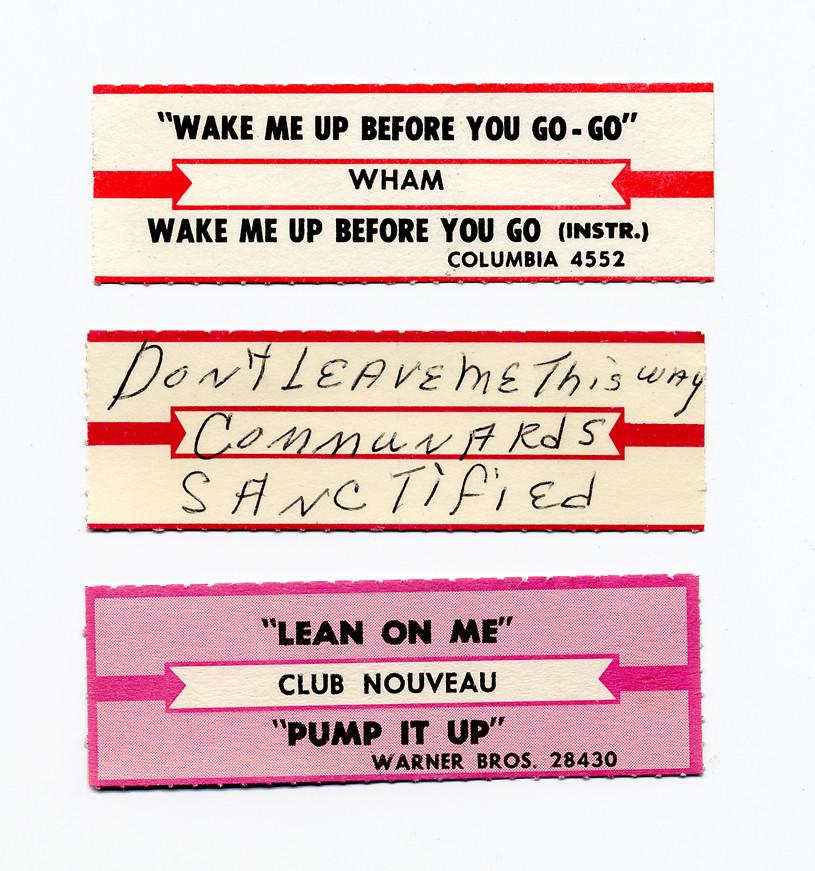 Jukebox title strips love