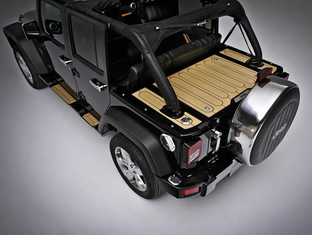 Tire Covers For Jeep Wrangler Wrangler Nautic Rear Deck | The Wrangler Nautic Concept vehi ...