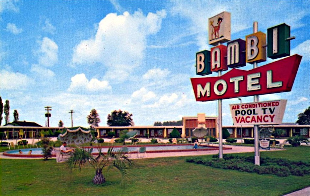 Bambi Motel Perry Florida U S 19 17a And 98 Perry