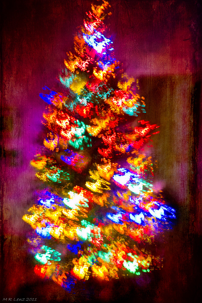 Oh Christmas Tree Blurry Christmas Tree Long Exposure