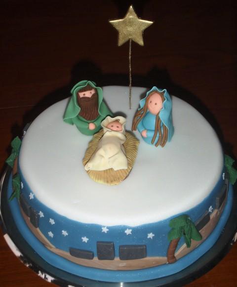 Nativity Christmas Cake Design : Nativity Christmas Cake Our Christmas Cake - with a ...