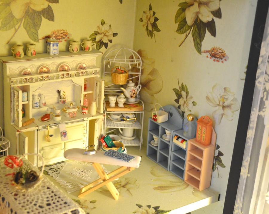 White Kitchen Hutch Cabinet