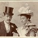 Unknown man & woman (groom & bride?) by Wakefield, 1 High Street, Ealing, early 1900s