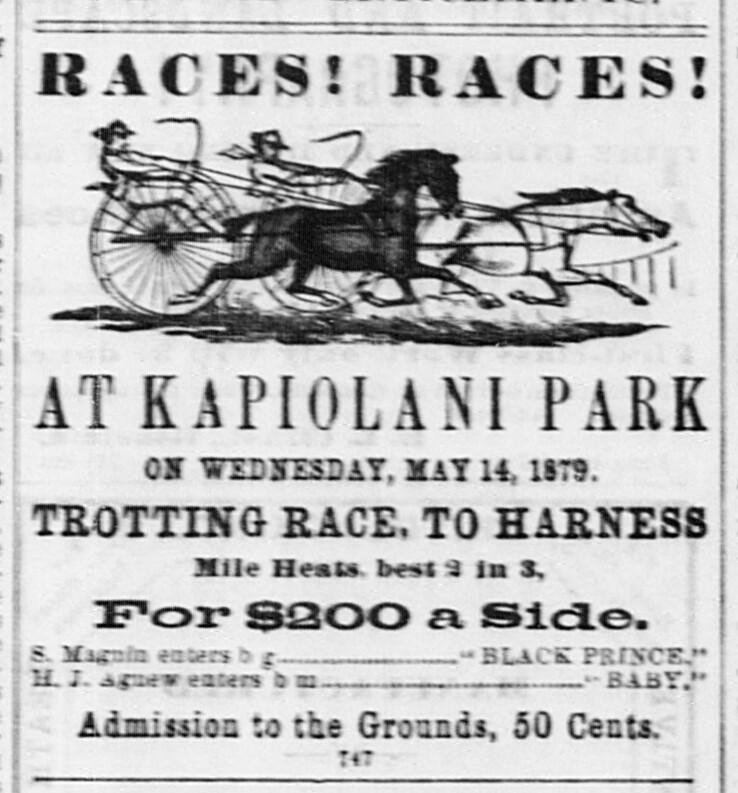 ad  horseracing at kapiolani park