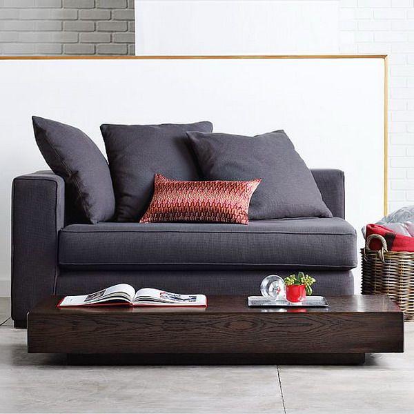 Sleek Small 2-seater Sofa For
