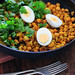 boiled eggs & curried chickpeas-4
