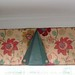Button-Flap Tailored Valance in Two Fabrics