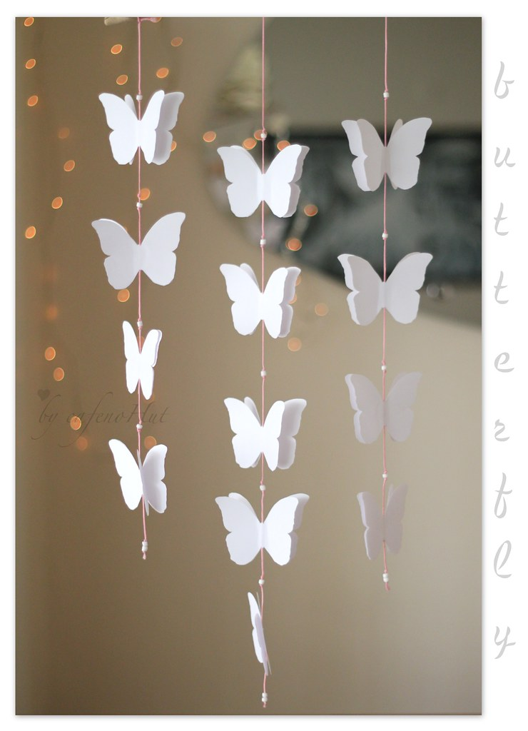 Paper butterfly blogged today on for How to decorate a paper butterfly