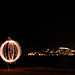 Ohrid at Night and a fire orb