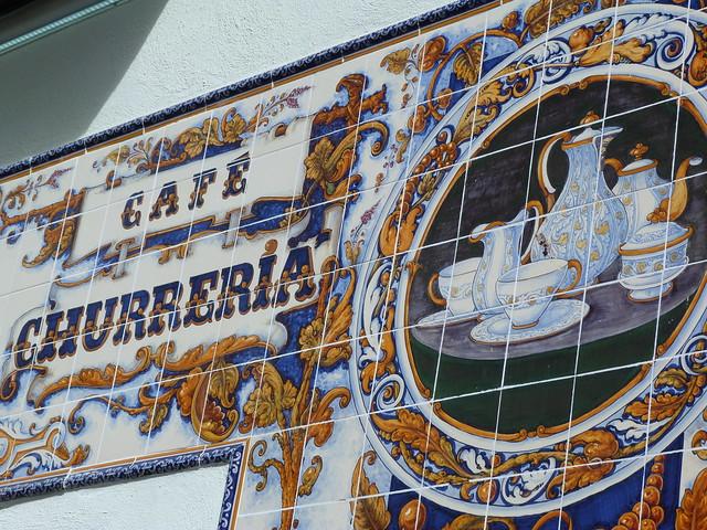 Churrería de Talavera con azulejos