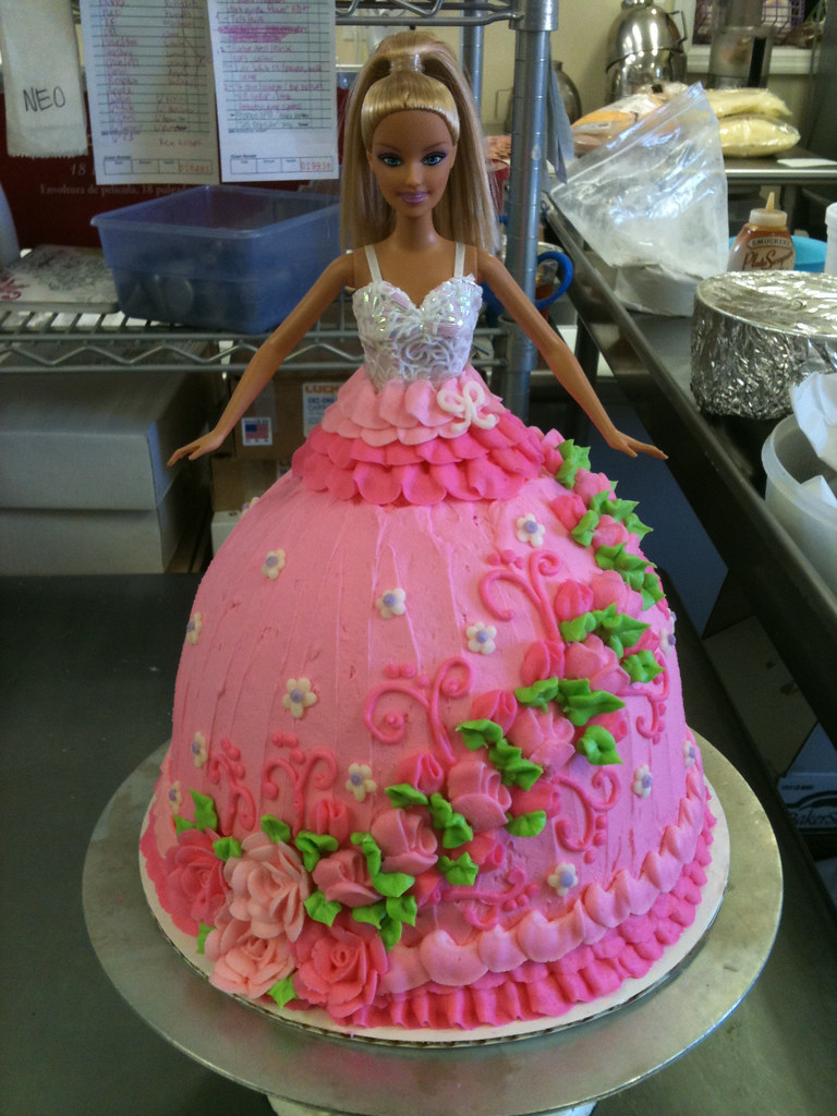 barbie dress cake Natasha pryor Flickr