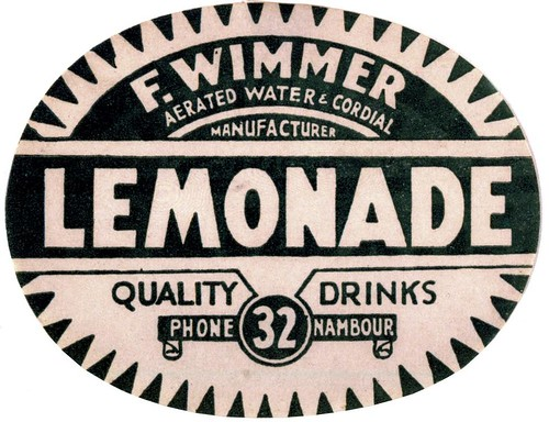 Wimmer's Lemonade label | by State Library of Queensland, Australia