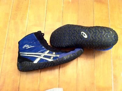 blue asics rulon wrestling shoes