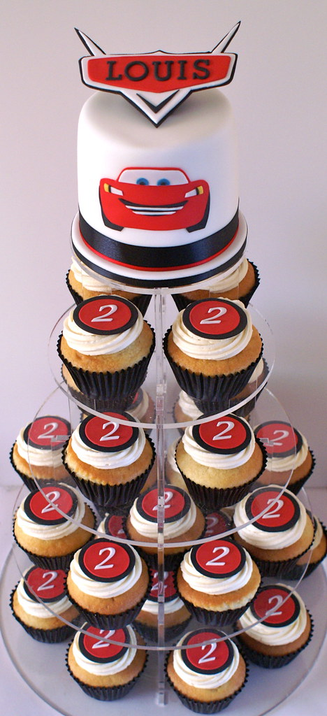 Disney Cars Cupcake Tower A Disney Cars Birthday Cupcake
