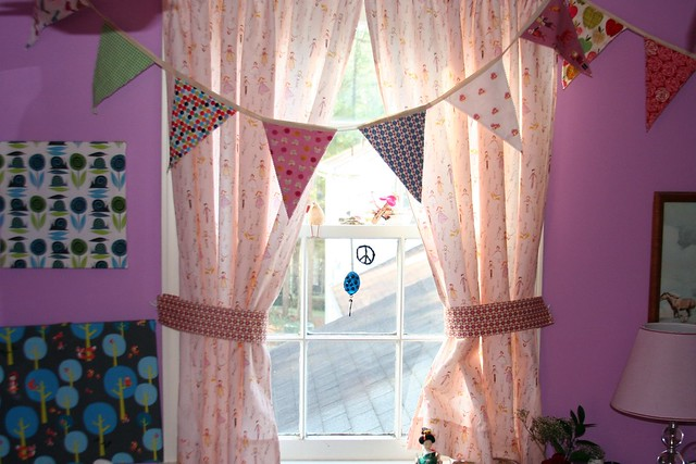 Macaroni Love Story curtains in girls' room | Flickr - Photo Sharing!