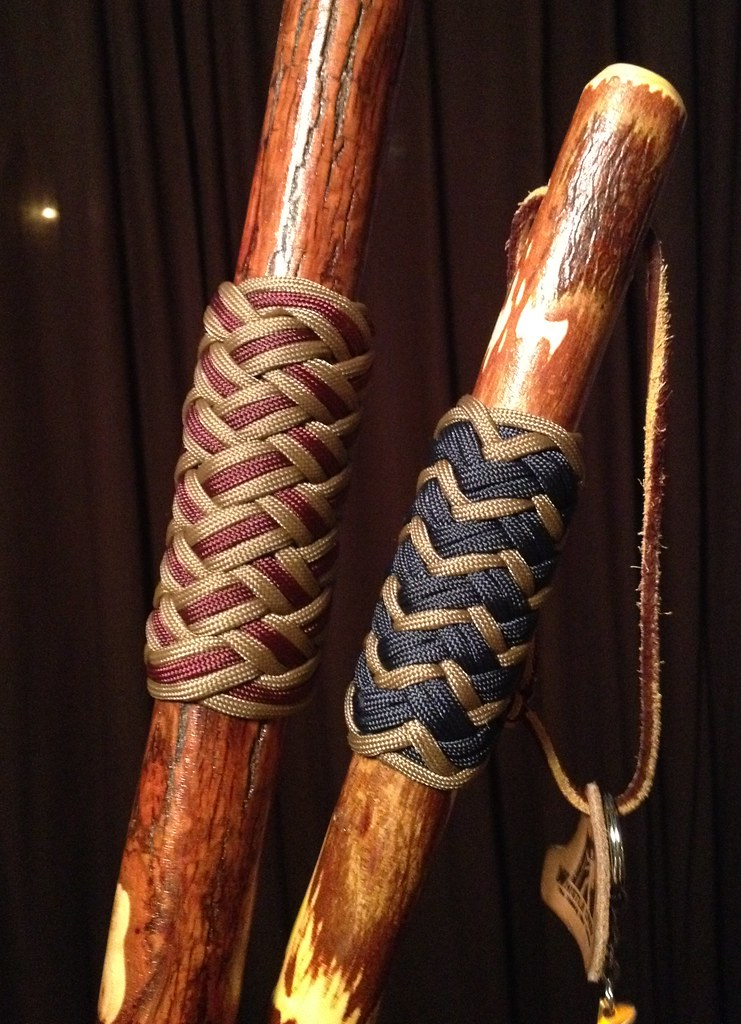Hiking Stick Grips I Tied These Two Knots As Handgrips