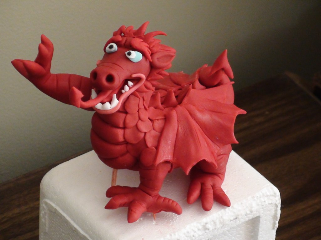 Dragon Fondant Cake Topper