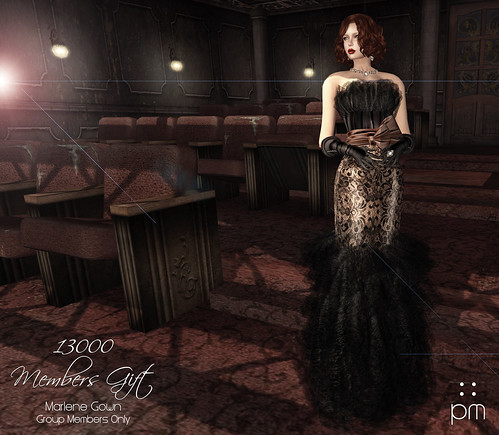 Marlene Gown - 13000 Members Group Gift | by http://www.purplemoonsl.com
