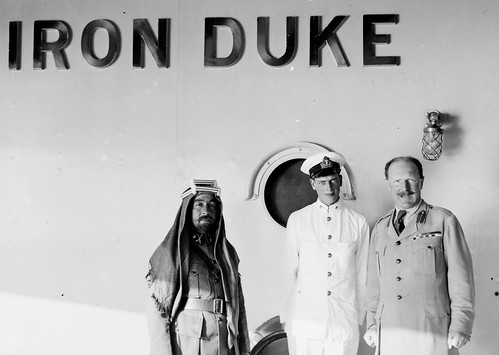 A ' RARE '  photo of  HRH Prince George, Duke of Kent onboard HMS Iron Duke with Emir Abdullah of Jordan - circa 1920's | by DesertBlooms