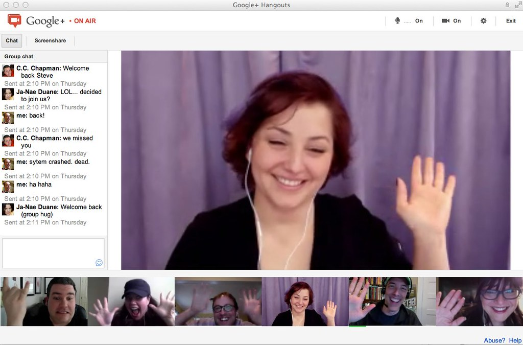 Discussion sur Hangouts