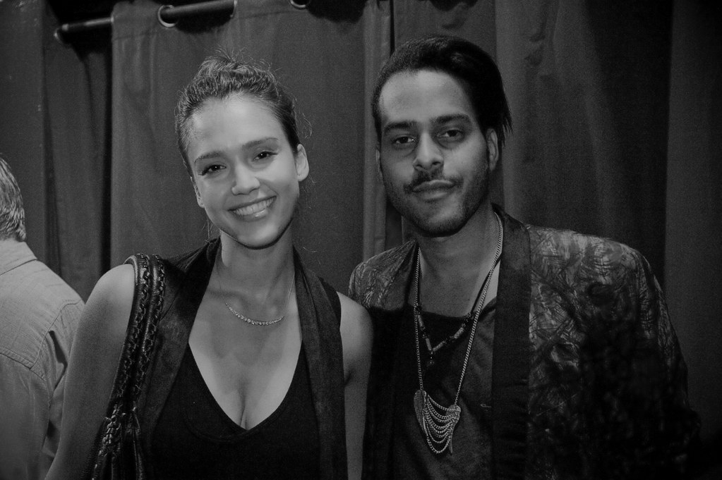 Jessica Alba and George Lewis Jr. | at the Troubador, Los ...