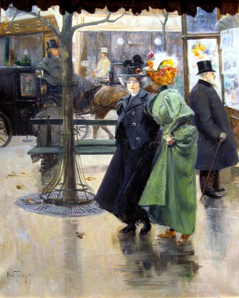 Belle Epoque Street Scene By Louis Abel-Truchet