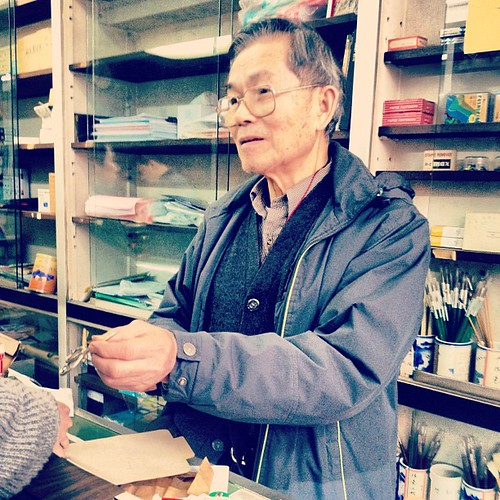 Owner selling pairs of old scissors | by Patrick Ng