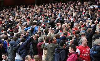 Arsenal fans do the Poznan | by Stuart MacFarlane
