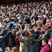 Arsenal fans do the Poznan