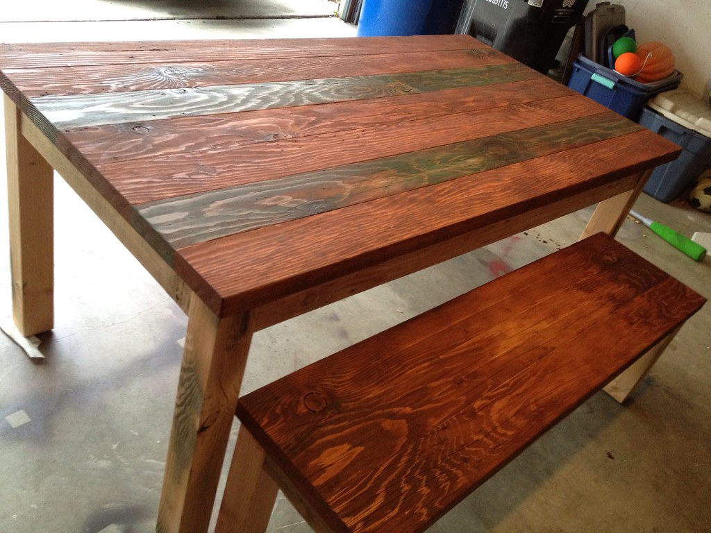recycled wood dining table | marco antonio torres | Flickr