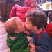Toby and Henry kissing at Peels