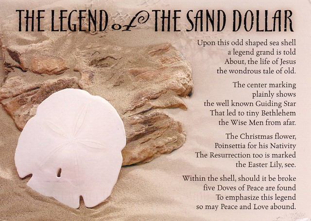 Effortless image with legend of the sand dollar printable