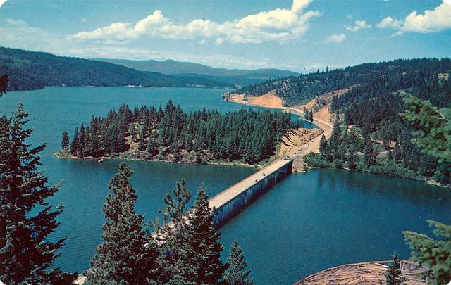 Postcard Blue Creek Bay Bridge On Lake Coeur D 39 Alene Idaho Flickr Photo Sharing