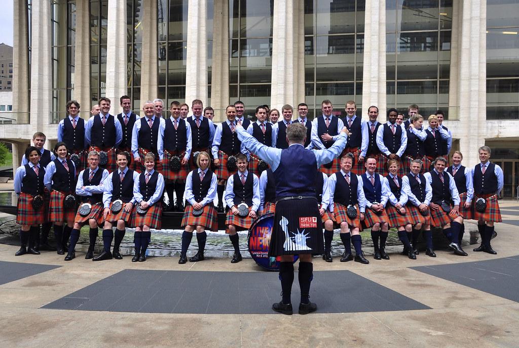Sfu Pipe Band At Lincoln Center Simon Fraser University