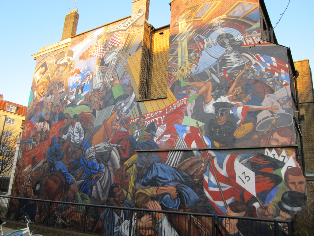 Cable street mural matt brown flickr for Cable street mural