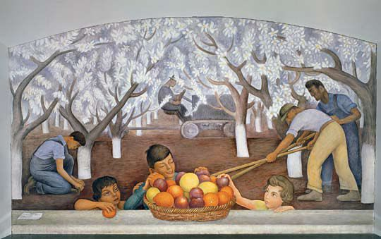Diego rivera still life and blossoming almond trees cali for Diego rivera san francisco mural